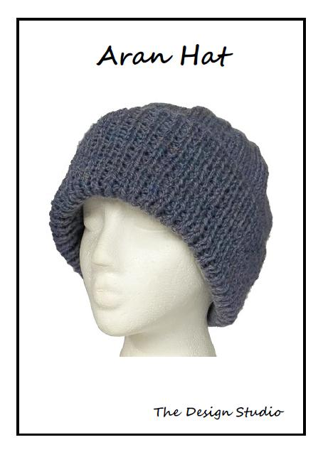 Knitting Pattern For An Aran Hat : Hand Knitting Pattern. Aran Hat