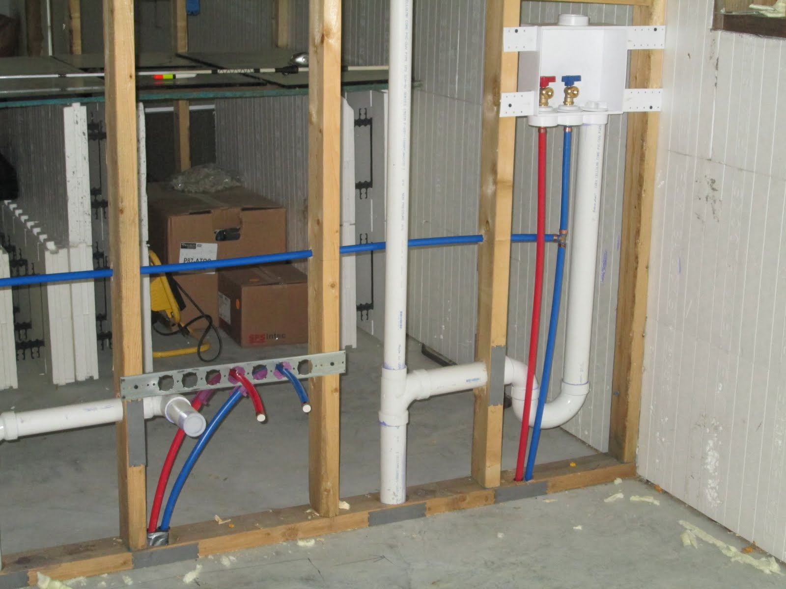 How to run water lines to a new bathroom what s so great for How to plumb a house with pex