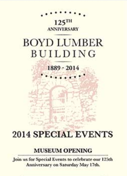 Boyd Lumber Building Bobcaygeon Kawartha Lakes Ontario celebrates 125 years May 17 2014