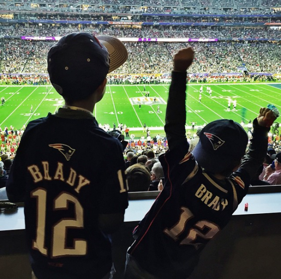 Tom Brady's kids Super Bowl