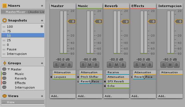 Unity 5 Mixer
