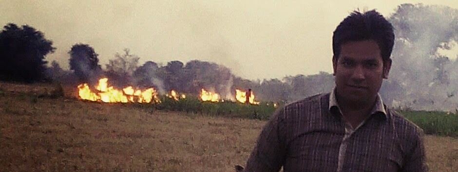 Fire at the farm behind me