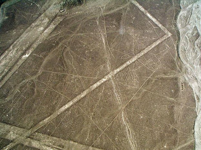 Nazca archaeological sites in danger near Ica, Peru