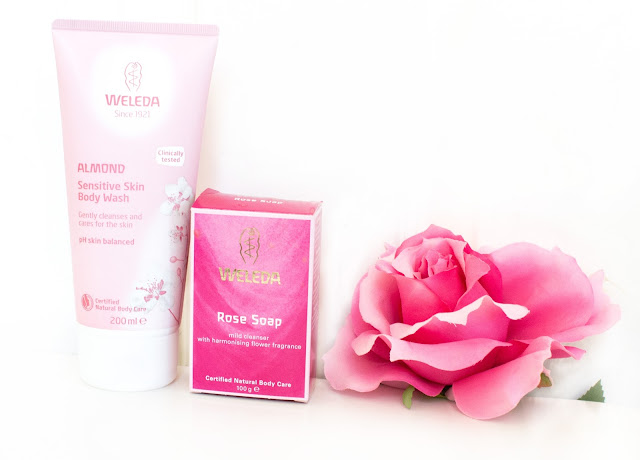 Weleda Almond and Wild Rose range