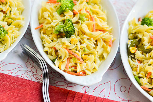 Gluten-Free Pasta Salad with Vegetables--Pescetarian Journal
