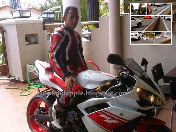 12 Gambar Allahyarham Hazalli yang meninggal dunia ketika kejadian Super bike terbakar di Karak