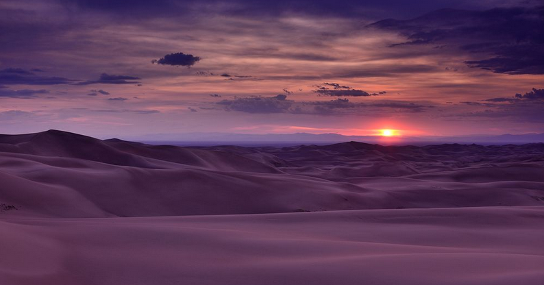 Blue Planet Heart: Sunset Over the Dunes Sunset