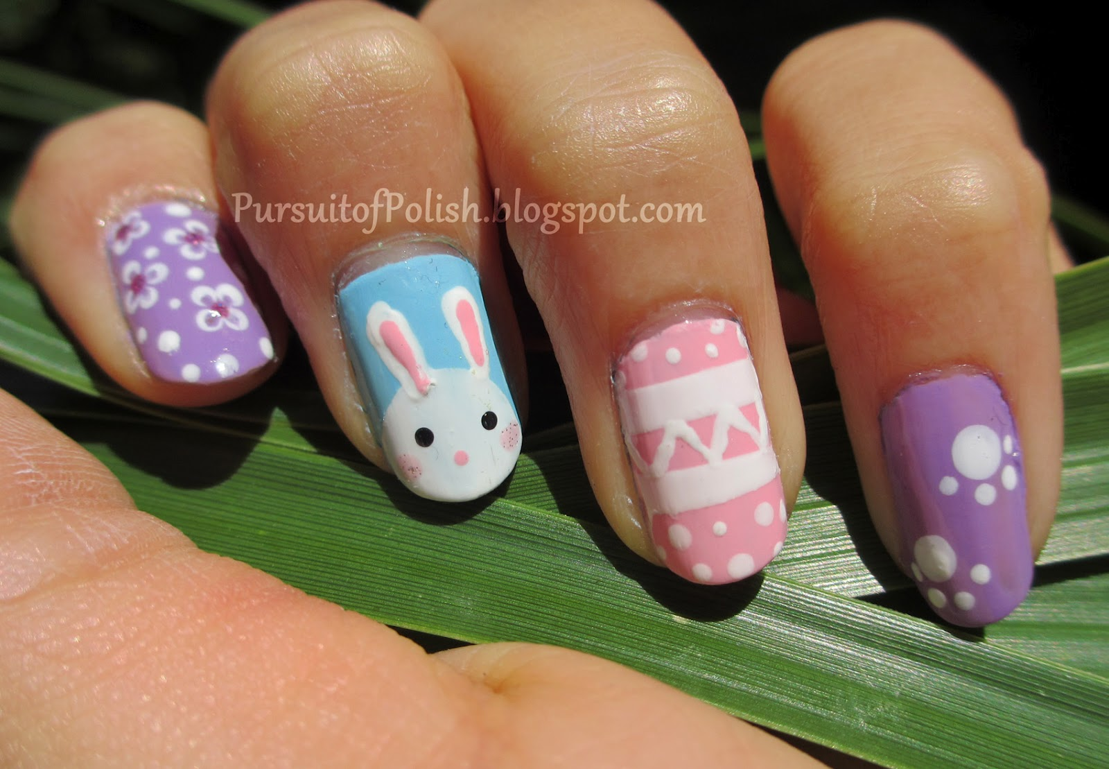 In Pursuit of Polish: Easter Bunny Spring Nails & Tutorial