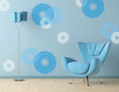 blue-firefox-wall-decor-for-minimalist-interior-design - vinyl stickers