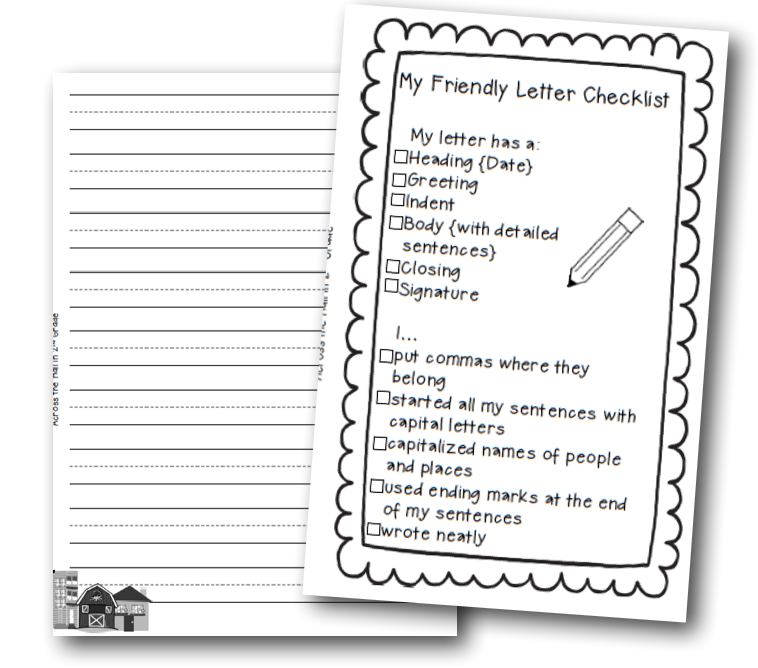 friendly letter writing rubric grade 6 creative writing