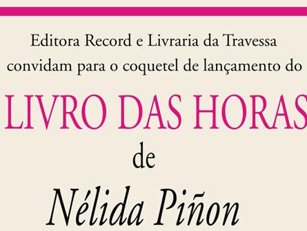 Lançamento do Livro das Horas, de Nélida Piñon no Rio de Janeiro