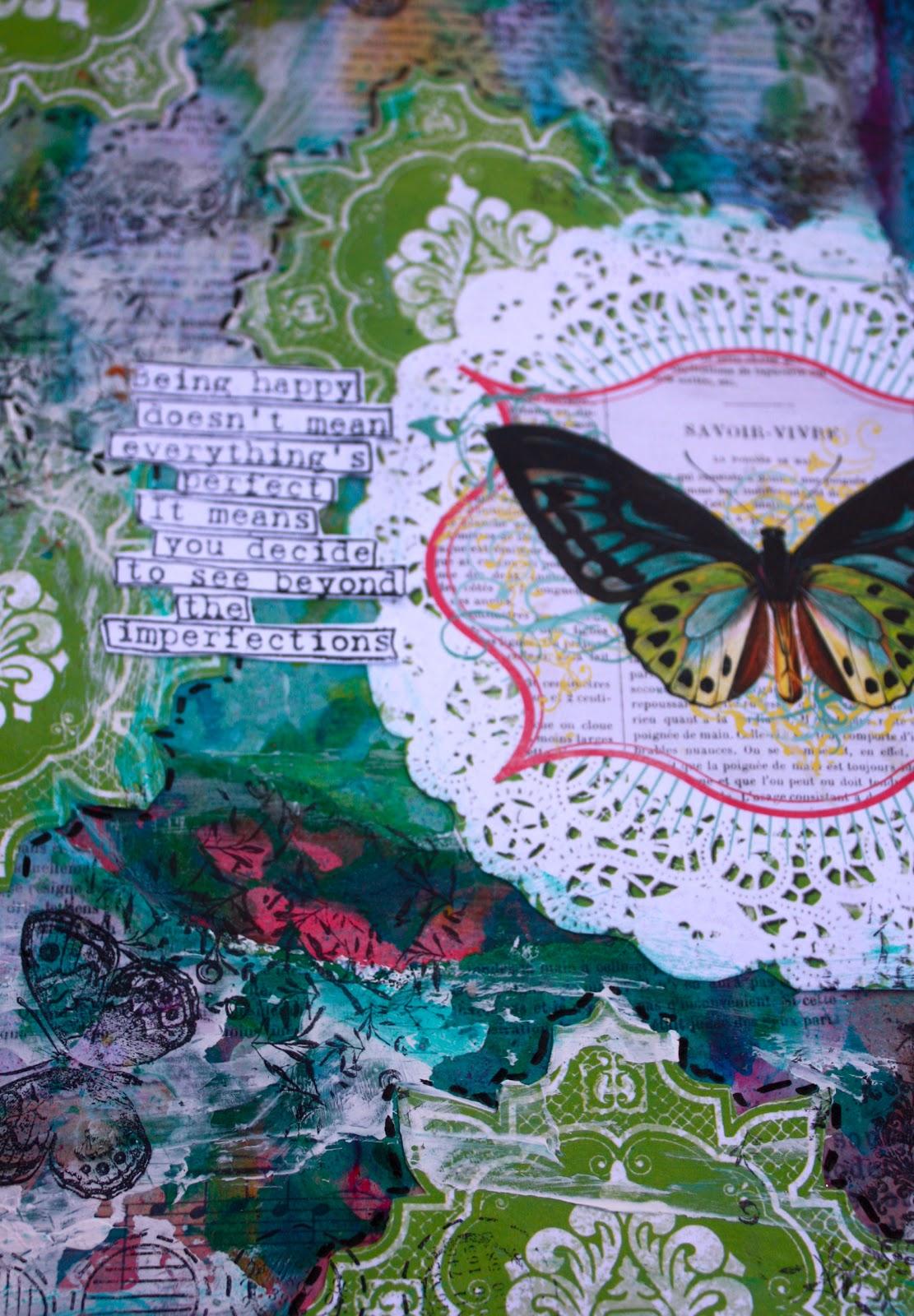 Art Journal Calendar Tutorial : Limor webber designs dt quot butterfly friday mixed