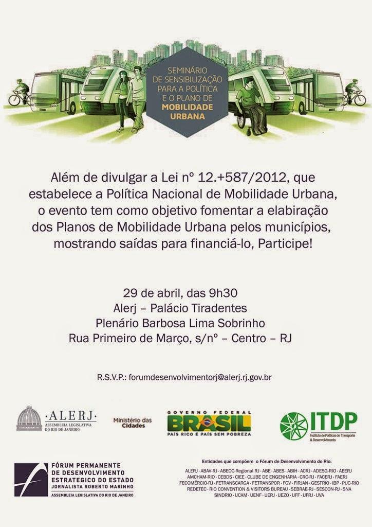 Mobilidade urbana é tema de encontro na Alerj dia 29/04