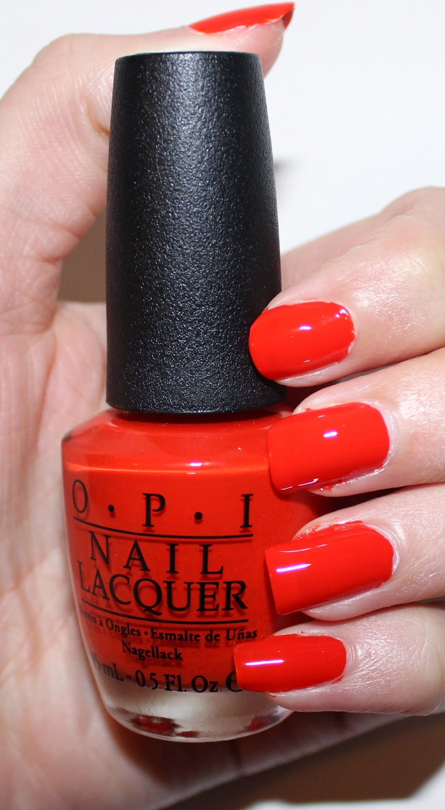 OPI Race Red Ford Collection Swatch