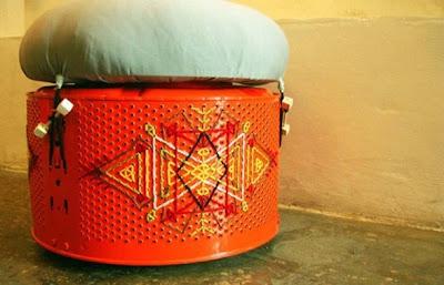 diseño de otomana con material reciclado