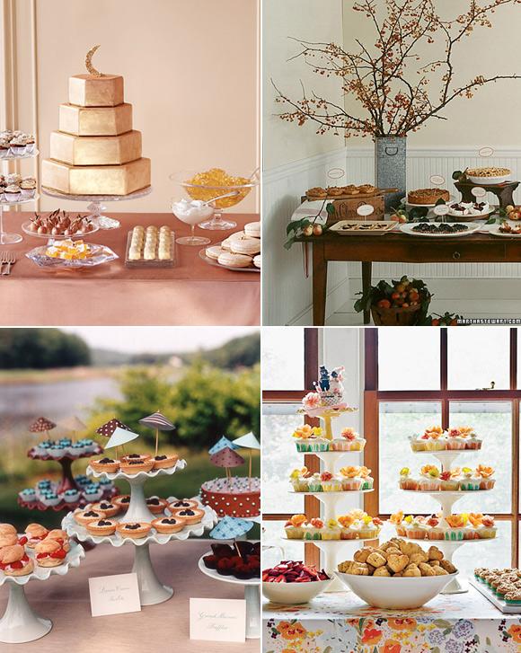 Novias y mucho m s mesas de bodas para postres y dulces for Mesa de dulces para boda