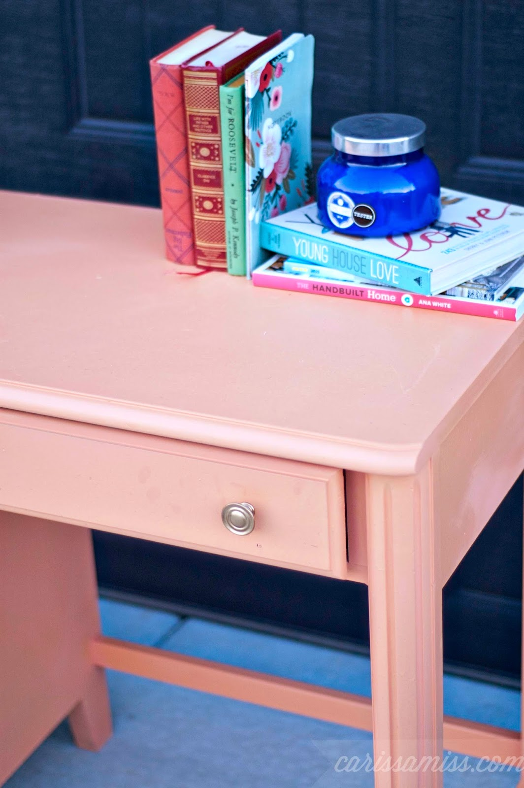 Carissa Miss: Sweet and Charming Coral and Gold Desk