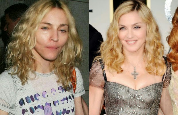 madonna - مادونا - shocking celebrities without makeup photoshop