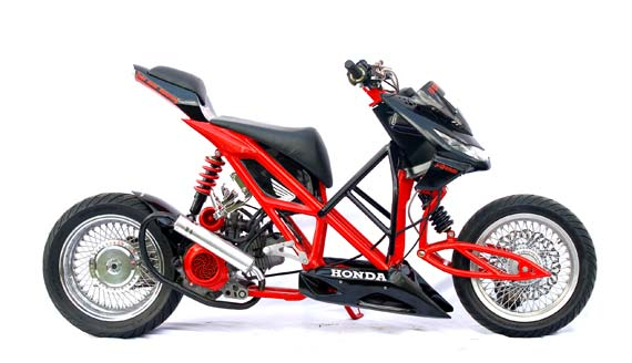 Modifikasi Motor Honda Beat Matic Street Fighter Pictures title=