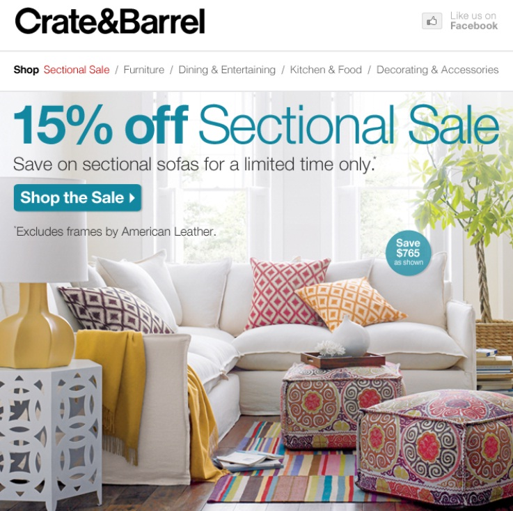 Crate and barrel coupon code
