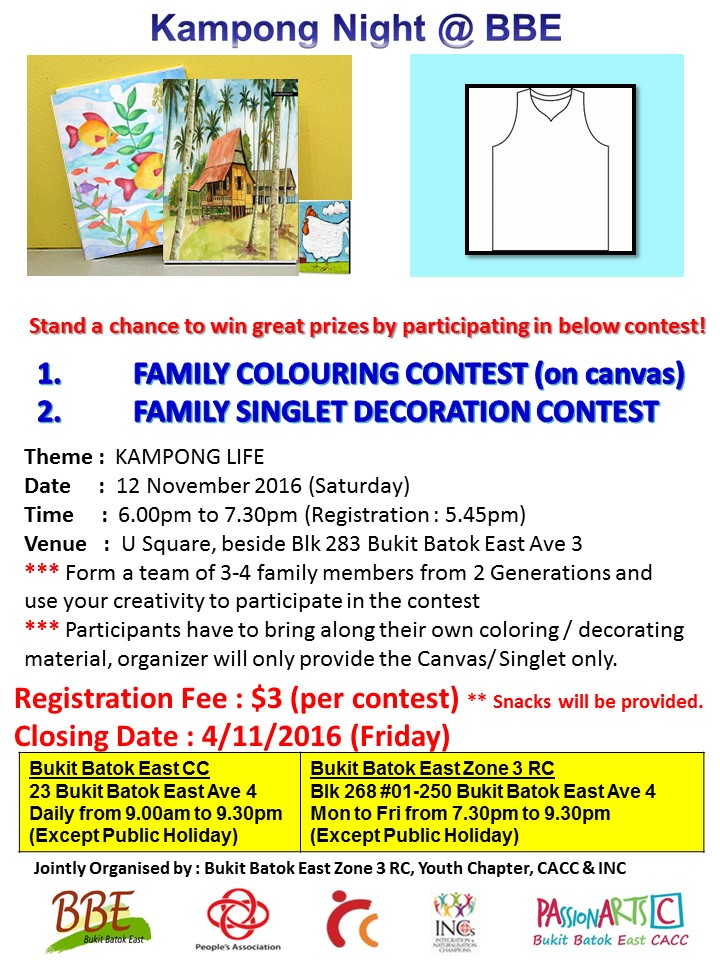 Family Colouring and Singlet Decoration Contest