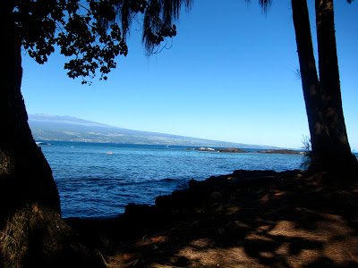 View from Richardson Beach, Hilo, Hawaii