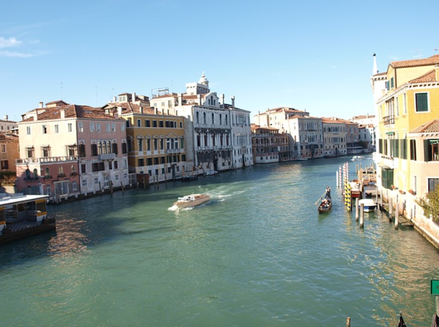 water channel streets in venice italy