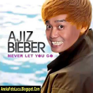 foto lucu Ajiz Gagap jadi Justin Bieber
