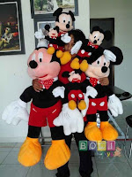 Boneka Mickey mouse ukuran s,m,l,xl,jumbo,super jumbo