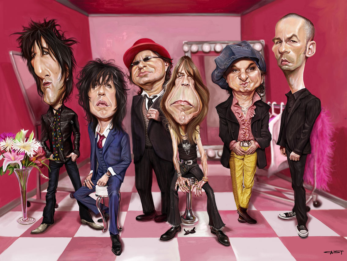 New york dolls caricatura