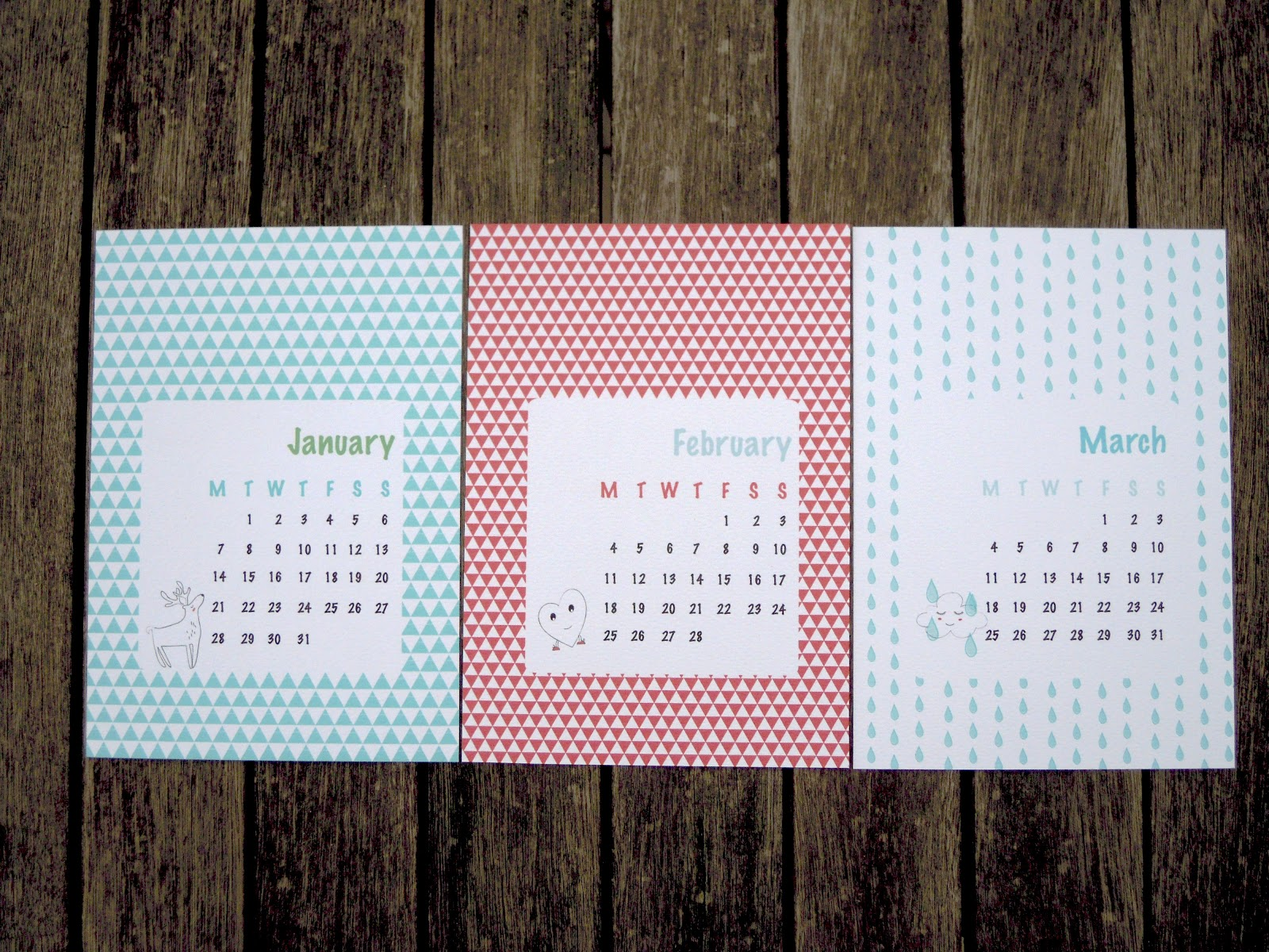 Handmade Calendar Designs : Mi ed design handmade illustrated calendar now on sale