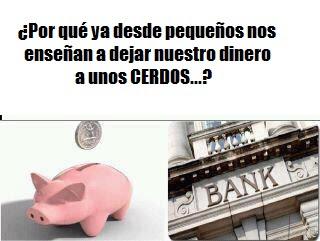 banqueros, cerdos