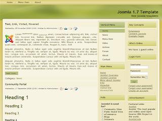 joomla 1.7 template