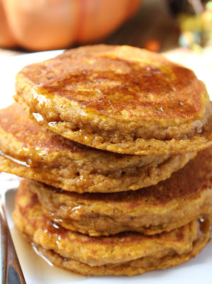 pumpkin oat pancakes, wheat-free