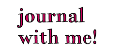journal with me!