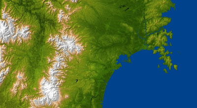 Topography of Tsunami-Damaged Japan