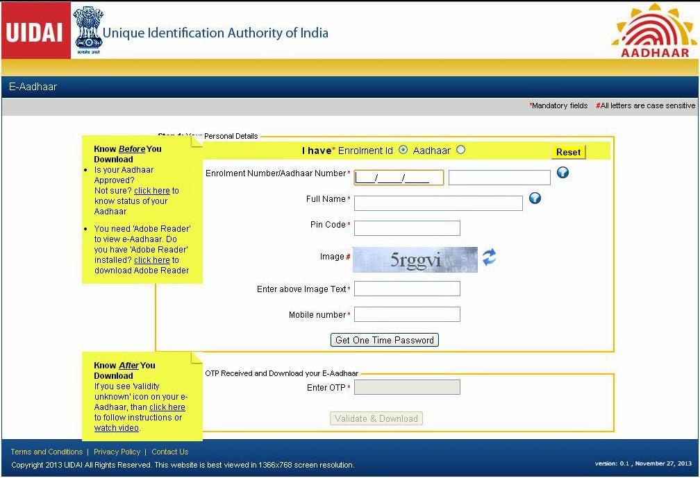 How To Apply For Aadhaar Card Online Uidai Application