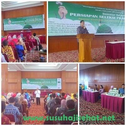 Seminar Persiapan Seleksi Petugas Kesehatan Haji Indonesia (PKHI) bersama Gema Hati dan Susu Haji Sehat