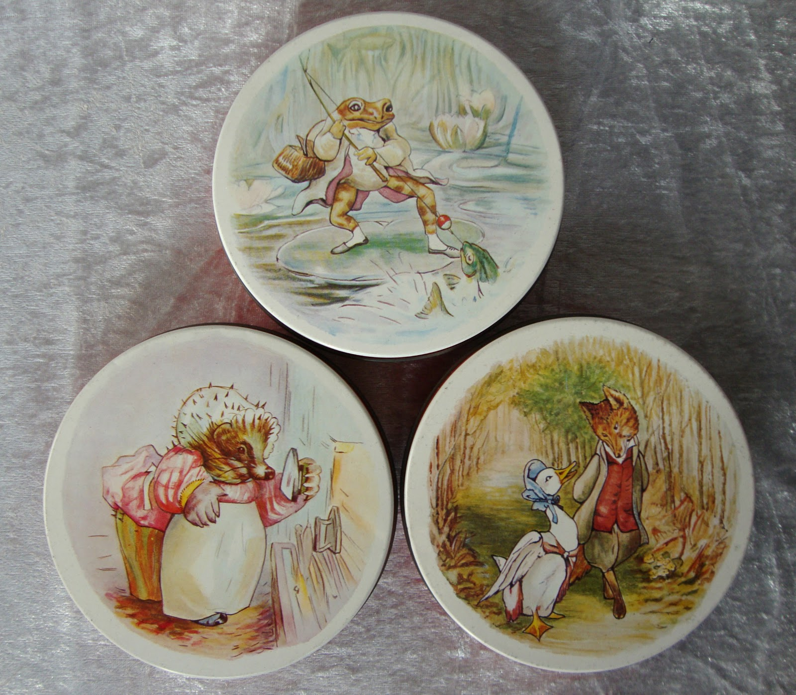 Firstly thanks to a tip off from Miss Imogen Smith I have completed my collection of Beatrix Potter 1980s biscuit tins nabbing the three ... & Miss Beatrix: A Few Vintage Acquisitions