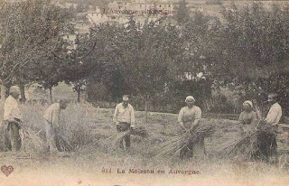 Villages d'Auvergne, les moissonneurs