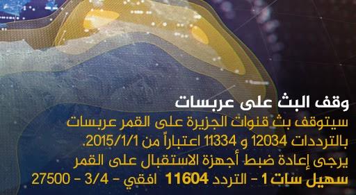 تردد قناة الجزيرة مباشر مصر الجديد 2015