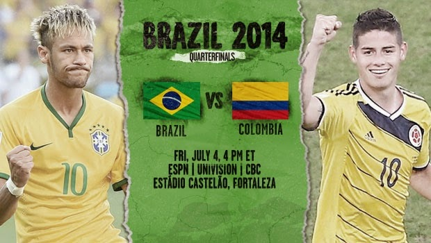 Highlight Brazil vs Colombia