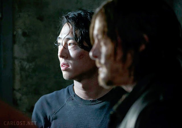 Glenn y Daryl en la quinta temporada The Walking Dead