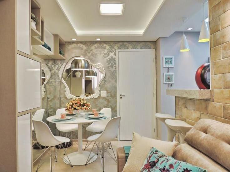 Espelho Em Sala Pequena ~ 12 salas de jantar decoradas com espelhos + dicas  Decor Alternativa