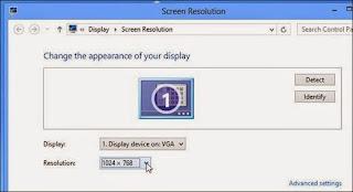 cara memperbesar resolusi layar netbook windows 8