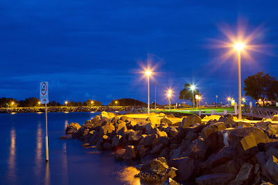 A Photograph of the Marina, Forster, Australia