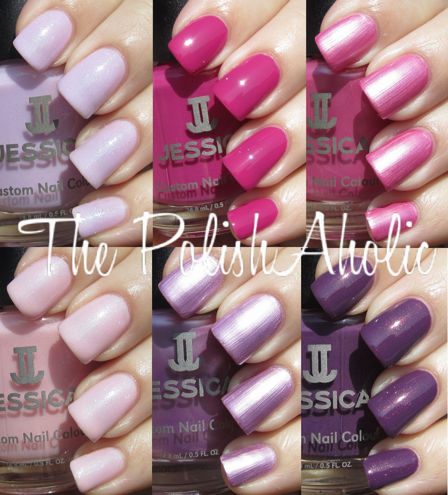 The PolishAholic: Jessica Spring 2012 Heavy Petal Collection Swatches!