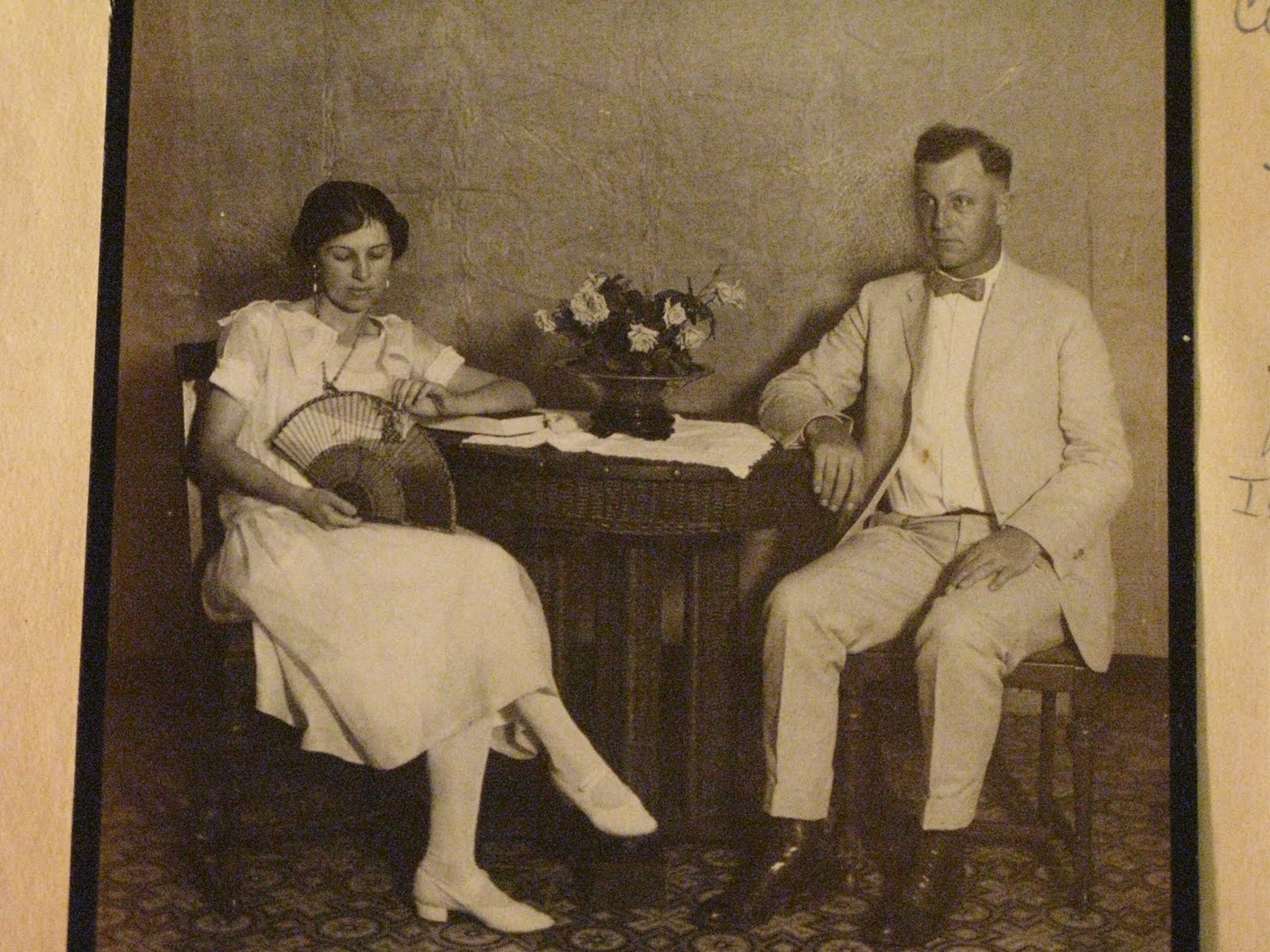 turning our hearts carolie meigs jervis oct sep  a photo of grandma and grandpa that he had in his scrapbook 1922