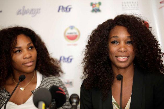 Serena and Venus Williams in Lagos, Nigeria kicking off the Africa Tour