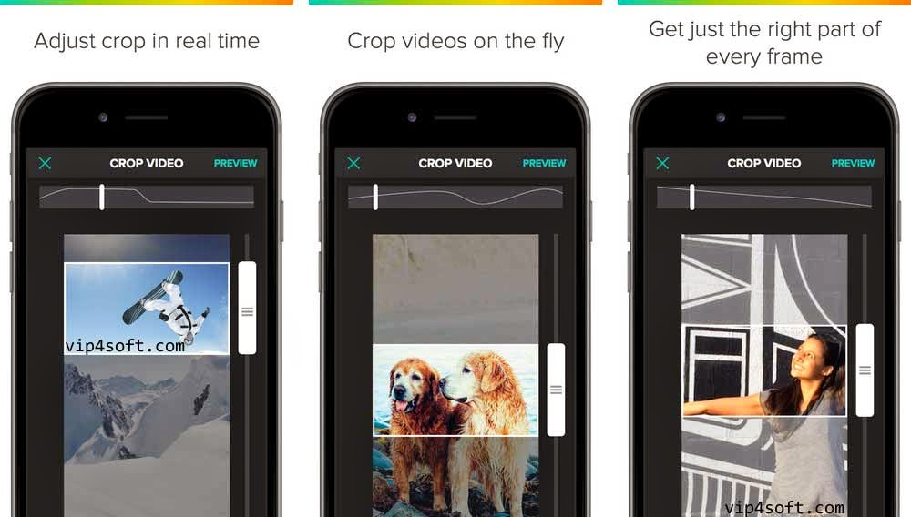تطبيق Crop on the Fly App for iPhone لقص مقاطع الفيديو لهواتف آيفون